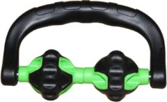 Zwarte Tunturi Double Spier Roller Ball - massage roller