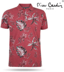 Rode Pierre Cardin heren polo bloemen