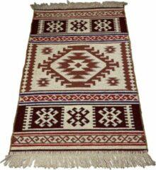 Sunar Home Kelim Vloerkleed Duru- Kelim kleed - Kelim tapijt - Oosterse Vloerkleed - 60x90 cm - Loper - Bankkleed - Plaid - Met kleine cadeau