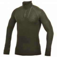 Woolpower Zip Turtleneck Lite Shirt Donkergroen