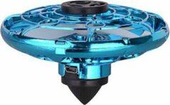 Blauwe Merkloos CE Hand gestuurde spinner drone met LED   Mini drone   Ufo spinner met LED   Vliegende fidget toy   Boomerang fly spinner   Fidgets   kinder speelgoed   Binnenspeelgoed   buitenspeelgoed   indoor& outdoor  