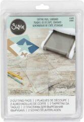 Transparante Snijplaten voor Sizzix, afm 20,5x15,5 cm, 2stuks