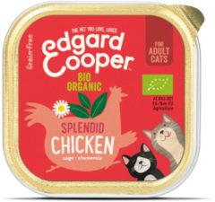 Edgard-Cooper Edgard&Cooper Kuipje Adult Biologisch 85 g - Kattenvoer - Kip