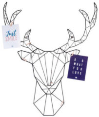 Present Time Decoratieve objecten Memo rack Linea Deer black Zwart