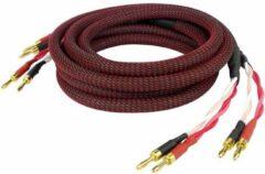 Rode Dynavox High-End 4 x 2.5mm² twisted Luidspreker-kabel 2x3 meter (voor 2 speakers)