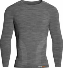 Knapman Knap'man Pro Performance Baselayer Shirt Long Sleeve Grijs Melange   Maat L
