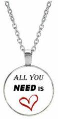 Akyol All you need is love ketting - sleutelhanger - love - liefde - geschenk - collega - verjaardag - kado - cadeau - feestdag - verassing - broederschap - vrienden - vriend - vriendin - collega - mama - papa - familie