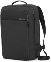 Zwarte Salzen Sleek Line Fabric Business Backpack Phantom Black