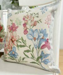 Blauwe Emme Kussenhoes - Daisy Flower - Bloemen - Madeliefje