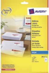 Witte Merkloos / Sans marque Avery White Address Label - Inkjet - J8161