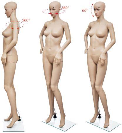 Afbeelding van Beige VidaXL - Paspop Vrouwelijke etalagepop volledig lichaam