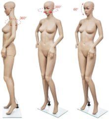 Beige VidaXL - Paspop Vrouwelijke etalagepop volledig lichaam