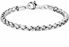 The Jewelry Collection For Men Armband 5,0 mm 20 cm - Zilver