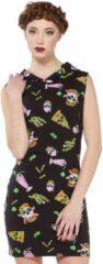Jawbreaker bodycon jurk twisted fast food zwart