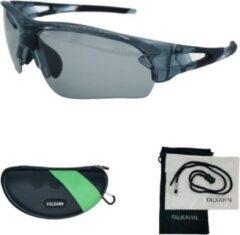 Blauwe Falkann Gepolariseerde Fietsbril / Sportbril Zwart Met 3 Lenzen - Set