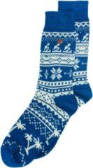 Alfredo Gonzales Twisted Wool Northern Pixels Blauw/Beige, Maat 35/37