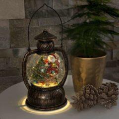 Konstsmide 3497 - Kerstdecoratie - 1 lamps LED sneeuwlantaarn kerstman watergevuld - op batterij - voor binnen - warmwit