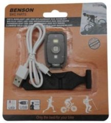 K-parts Fiets Bikelight COB USB Oplaadbaar Rood / Wit