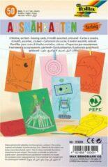 Beige Folia Borduurkaarten gekleurd 50-delig