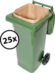 Bruine Biomat composteerbare papieren containerzakken 1 laags - 240 liter - 25 stuks