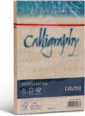 Creme witte Perkament 25 enveloppen 120 x 180 J7 90 g/m2 inkjet kleur Creme PERGAMENA Calligraphy Crema 05 FAVINI wenskaarten