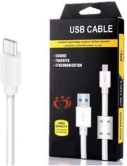 Witte Olesit K102 Micro USB Kabel 1 Meter Laadsnoer Oplaadkabel voor de Samsung Modellen - Wit