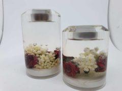 Rode Rawa Geschenken Waxine licht houder Rozen cilinder handgemaakt glas
