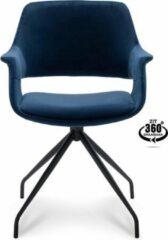 Happy Chairs – Armstoel Paulo – Velvet Blauw
