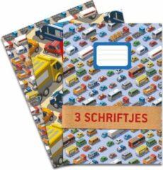 Blauwe De Kaartenmakers Schriften met auto's en vrachtwagens! - 3 stuks A5 Gelijnd