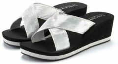 Zilveren LASCANA slippers