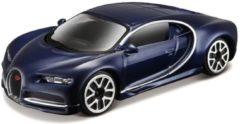 Modelauto Bugatti Chiron 1:43 donkerblauw - speelgoed auto schaalmodel