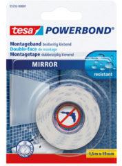 Witte 1x Tesa dubbelzijdig montagetape op rol voor spiegels 1,5 meter - Klusmateriaal - Huishoudartikelen - Tesa Powerbond - Waterproof - Montagetape - Dubbelzijdig tape