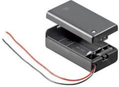 Goobay 48171 Batterijhouder 1x 9V (blok) Kabel (l x b x h) 68.4 x 33.2 x 25.6 mm