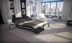 Sofa Dreams Berlin Dual Wasserbett ACCENT schwarz Komplett Set