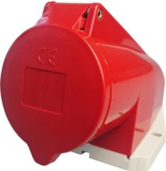Rode MENNEKES 32A 5-polige CEE-contactdoos met voetplaat en deksel, IP44