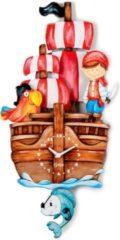 Dekori wandklok piratenboot junior 25 x 52 cm hout
