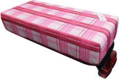 Hooodie Bagagedragerkussen BIG Cushie Pink Plaid 2