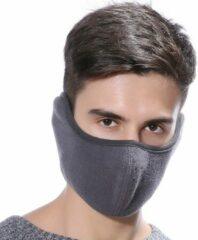 Superdealer Fleece Face Mask - Gezichtsmasker -Mondkapje - Oorwarmer - Gezichtswarmer - Uniseks - Grijs