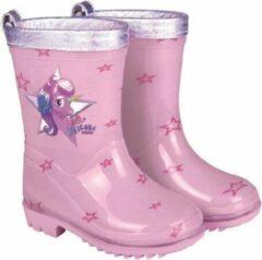 Roze Perletti Regenlaarzen Unicorn Maat 22-23