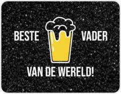 Gele Fotofabriek Muismat: BESTE VADER VAN DE WERELD - Vaderdag cadeau