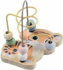 Jouéco Kralenbaan tijgertje-voor de allerkleinsten-kleine kralenbaan-12.5cm hoog-Minikralenbaan-kralenspiraal