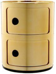 Gouden Kartell Componibili bijzettafel metallic (2 comp.) goud 32
