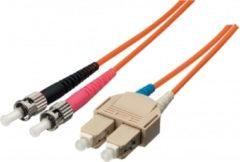 Equip SC/ST 9/125μm 5.0m Glasvezel kabel 5 m OS2 Geel