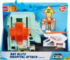 Blauwe Hot Wheels racebaandeel Bat Hospital jongens turquoise 2-delig