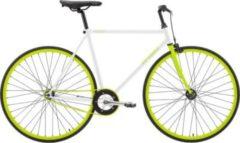 28 Zoll Herren Fixie Fahrrad Sprint... weiß-grün