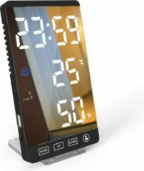 Premium Commerce Luxe Digitale Wekker - Slaapkamer - Zwart - Inclusief verwijderbare standaard!