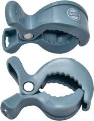 Lodger Hydrofiele doek - Swaddle Clips - Blauw - 2 stuks