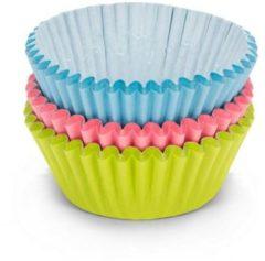 Patisse Cupcakevormen 5cm Papier Blauw/roze/groen 90 Stuks