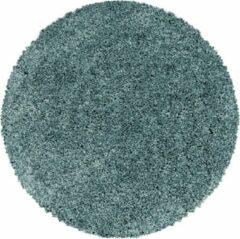 SYDNEY SHAGGY Himalaya Monaco Soft Rond Shaggy Hoogpolig Vloerkleed Blauw / Turquoise- 200 CM ROND