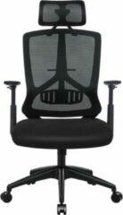 MIRA home Bureaustoel – Computerstoel – Comfortabel - Polypropyleen – Zwart – 53x53x133